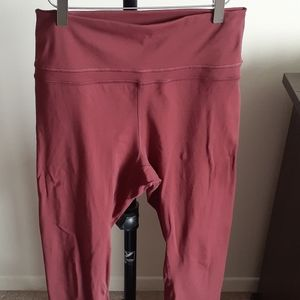 CRZ Yoga Naked Feeling Maroon Leggings Size Large